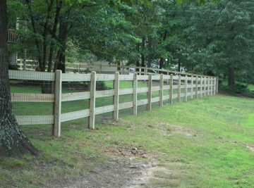 Ranch Rail Fence With Dog Ear Post
