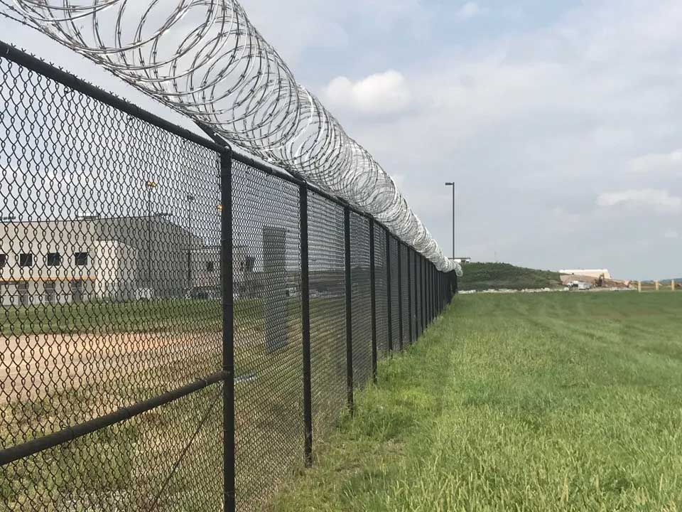 Chain link fence for commercial property