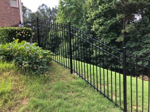 Aluminum Metal Fence With Smooth Spear Top