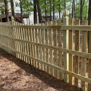 3-Rail Saddle Wood Picket Fence