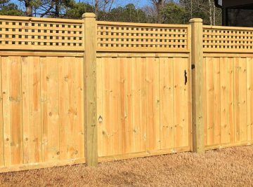 6 Feet Tall Board On Board Privacy Fence