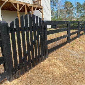 Black Ranch Rail Fence