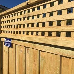 Board On Board Privacy Fence With Square Lattice