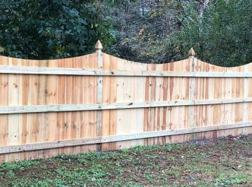 Saddle Top Privacy Fence With French Gothic Posts